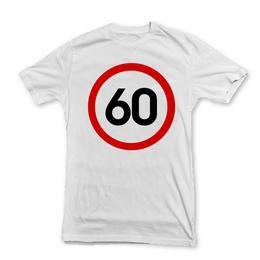 60-as Sebességkorlátozó Szülinapi Számos Póló - M-es