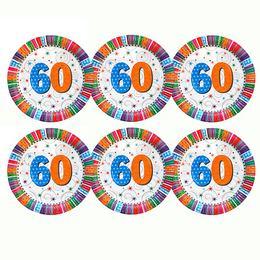 60-as Szülinapi Csillagos Parti Tányér