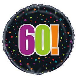 18 inch-es 60-as Birthday Cheer Héliumos Fólia Lufi Szülinapra