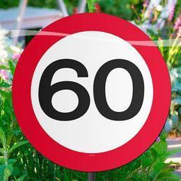 60-as Sebességkorlátozó Születésnapi Parti Kerti Tábla