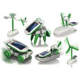 6in1 Napelemes Robot Játék Szett