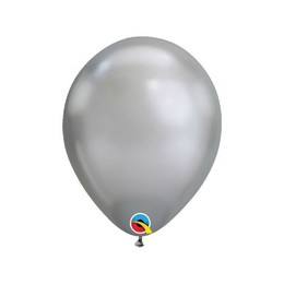 7 inch-es Chrome Silver - Ezüst Kerek Lufi (100 db/csomag)