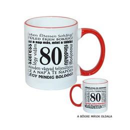80-as Születésnapi Számos Egyedi Bögre