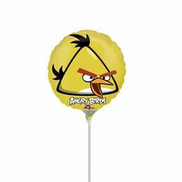 9 inch-es Angry Birds - Yellow Bird Pálcás Fólia Lufi