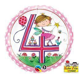 18 inch-es 4-es Számos Tündér Pöttyös Fairy Polka Dots Szülinapi Héliumos Fólia Lufi