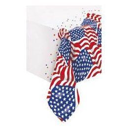 Amerikai Zászlós Parti Asztalterítő - 137 cm x 213 cm
