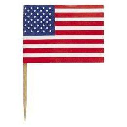 Amerikai Zászlós Parti Falatka Pálcika - 30 db-os