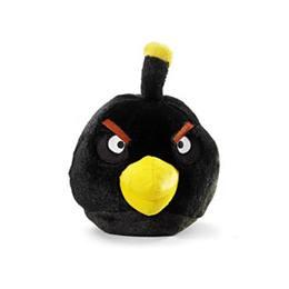Angry Birds - Fekete Plüss Madár Csivitelő Hanggal - 13 cm-es