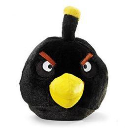 Angry Birds - Fekete Plüss Madár Csivitelő Hanggal - 20 cm-es