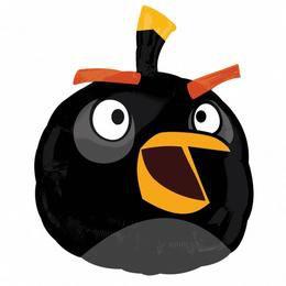 Angry Birds - Fekete Madár Super Shape Fólia Héliumos Lufi