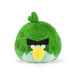 Angry Birds Space - Plüss Kövér Zöld Madár Csivitelő Hanggal - 13 cm