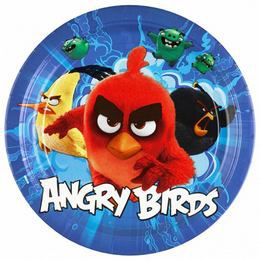 Angry Birds Movie Papír Parti Tányér - 23 cm, 8 db-os