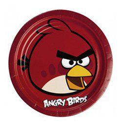 Angry Birds Tányér - Piros Madár, 23 cm