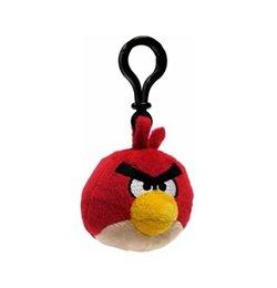 Angry Birds - Piros Plüss Madár Táska Klip - 6 cm-es