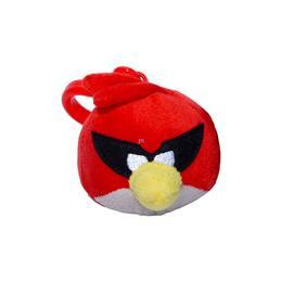 Angry Birds Space - Plüss Szuper Piros Madár Táska Klip - 6 cm-es