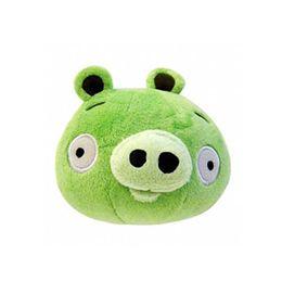Angry Birds - Zöld Plüss Malac Röfögő Hanggal - 13 cm-es