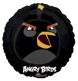 18 inch-es Angry Birds - Fekete Madár Héliumos Fólia Lufi