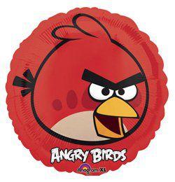 18 inch-es Angry Birds - Piros Madár - Héliumos Fólia Lufi