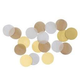 Arany Bézs Fehér Kerek Parti Konfetti - 15 gramm