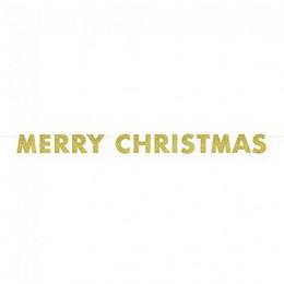 Arany Glitteres Merry Christmas Feliratú Füzér