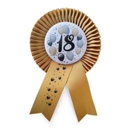 18-as Arany Szalagos Kitűző Elegáns Léggömbös Mintával