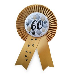 60-as Arany Szalagos Kitűző Elegáns Léggömbös Mintával
