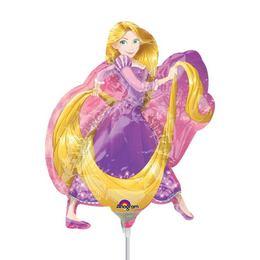 Aranyhaj - Rapunzel Mini Shape Fólia Lufi Pálcán, 20 cm