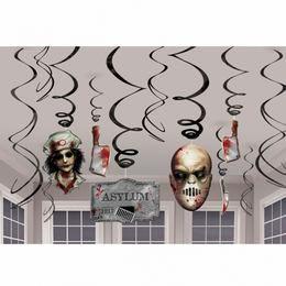 Véres Spirál Függő Dekoráció Halloweenre