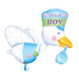 It is a Boy - Bundle of Joy Stork - Super Shape Héliumos Fólia Lufi Babaszületésre
