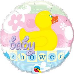 Gumi Kacsás - Baby Shower Duckie Héliumos Fólia Lufi Babaszületés