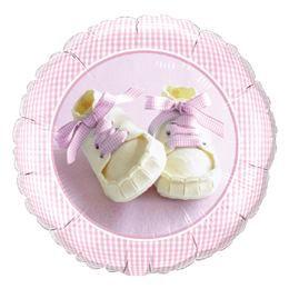 18 inch-es Lány Babacipő - Baby Girl Shoes Héliumos Fólia Lufi Babaszületésre