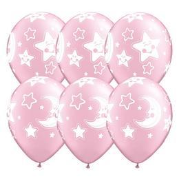 Gumi Lufi Kislány Babaszületésre Hold és Csillagok, Pink, 25 db