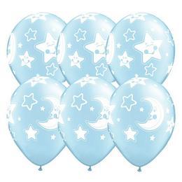Gumi Lufi Kisfiú Babaszületésre Hold és Csillagok, Kék, 25 db