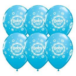 11 inch-es Baby Boy Dots Blue Lufi (6 db/csomag)