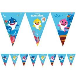 Baby Shark Parti Zászlófüzér