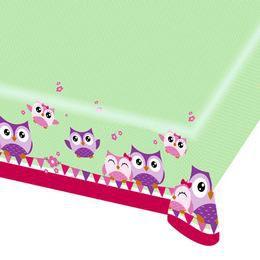 Bagoly - Happy Owl Parti Asztalterítő, 180 cm x 120 cm