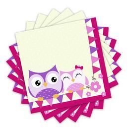 Bagoly - Happy Owl Papír Parti Szalvéta - 33 cm x 33 cm, 20 db-os