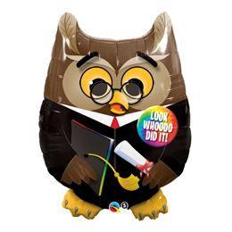 34 inch-es Bagoly - Grad Owl - Ballagási Héliumos Fólia Lufi