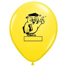 11 inch-es Bagoly Feliratozható Yellow Ballagási Lufi (25 db/csomag)