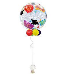 Ballagási Buborék Léggömb Dekoráció - Gratulálunk!