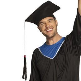 Ballagási Diplomaosztó Kalap Hosszú Bojttal Fekete Filcből