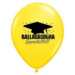16 inch-es Ballagásodra Szeretettel! - Yellow Ballagási Lufi (5 db/csomag)