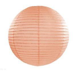 Barackszínű Parti Gömb Lampion - 45 cm