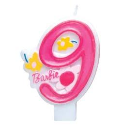Barbie 9-es Szülinapi Számgyertya