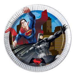 Batman vs Superman - Batman Superman Ellen Parti Tányér - 19,5 cm, 8 db-os