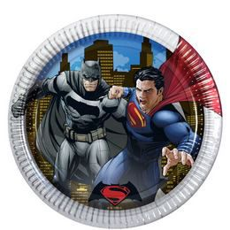 Batman vs Superman - Batman Superman Ellen Parti Tányér - 23 cm, 8 db-os