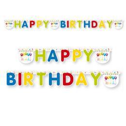 Happy Birthday Streamers - Szülinapi Happy Birthday Parti Füzér