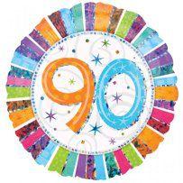 18 inch-es Radiant Birthday 90-es Születésnapi Héliumos Fólia Lufi