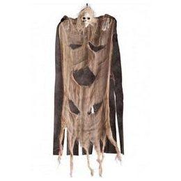 Bézs Fekete Csontváz Szellem Dekoráció, 60 cm-es