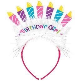 Birthday Girl Gyertyás Szülinapi Fejdísz